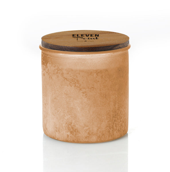 Willow Woods River Rock Candle in Orange