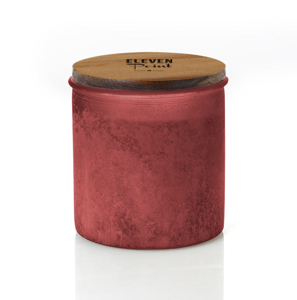 Autumn No. 60 River Rock Candle in Red