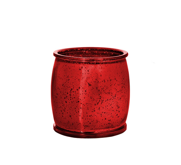 Morning Dew Mercury Barrel Candle in Red