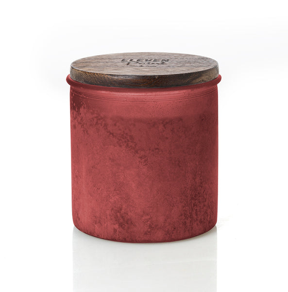 Willow Woods River Rock Candle in Red