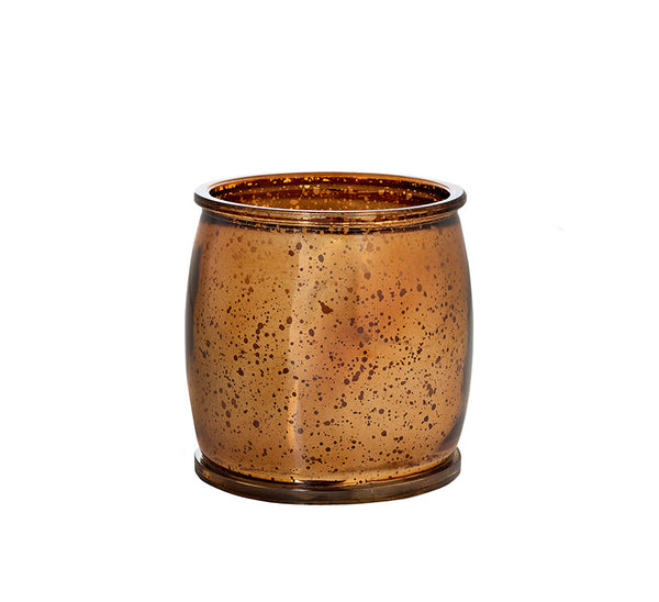 Holiday Drama Mercury Barrel Candle in Bronze