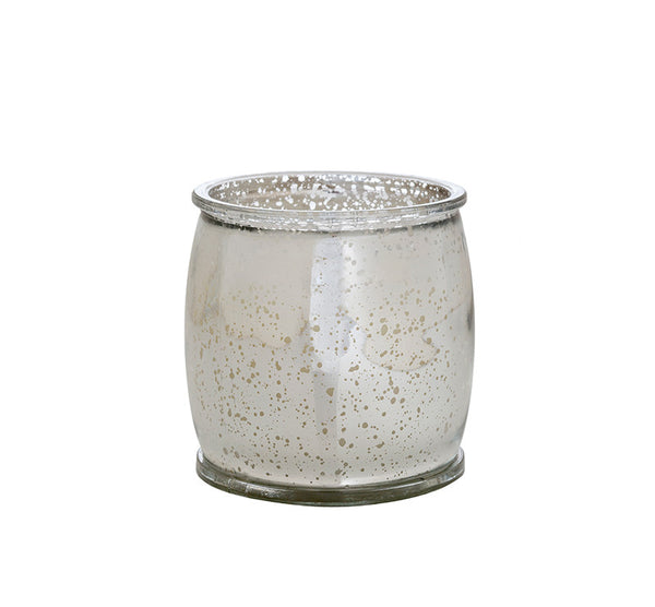 Morning Dew Mercury Barrel Candle in Silver