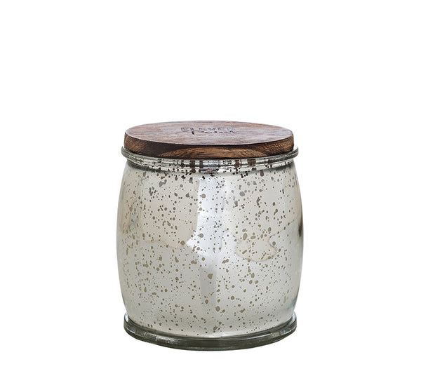 Willow Woods Mercury Barrel Candle in Silver