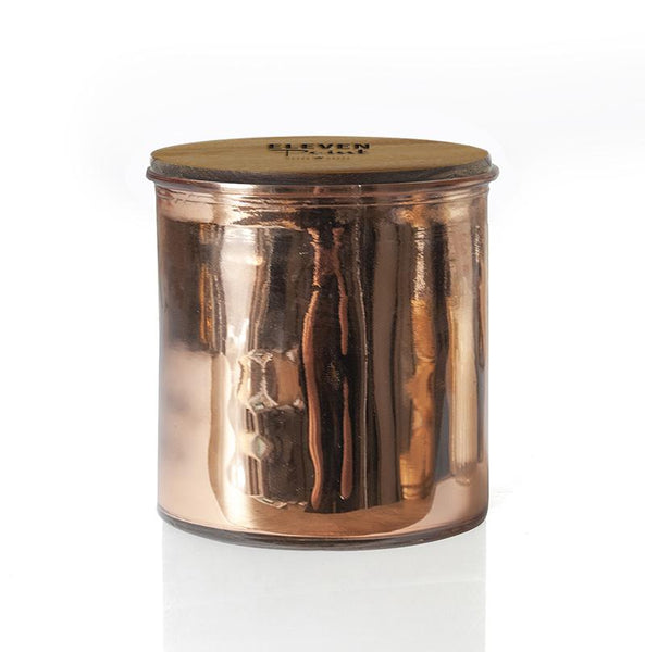 Tree Farm Rock Star Candle in Rose Copper