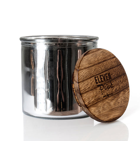Blackberry Rock Star Candle in Silver
