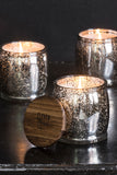 Blackberry Mercury Barrel Candle in Silver