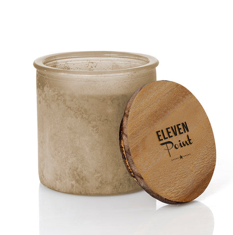 Almond Bark River Rock Candle in Almond