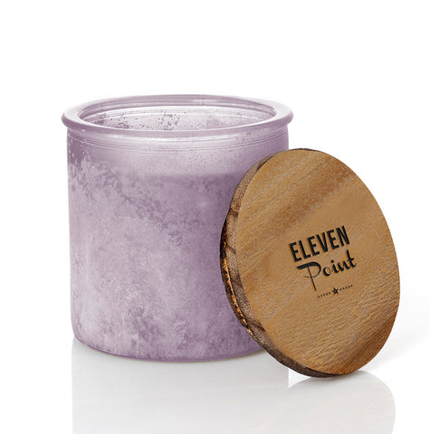 Arrow River Rock Candle in Fresh Plum