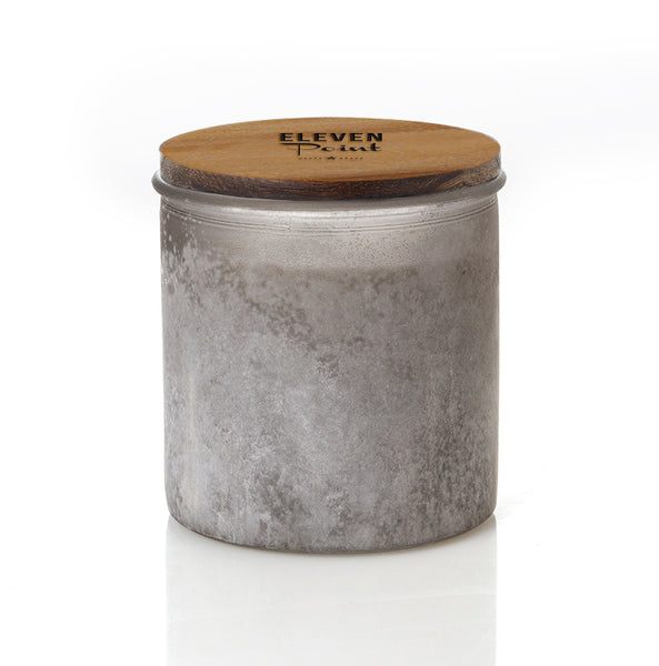 The River Rock Candle in Gray