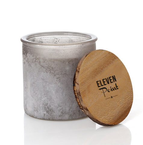 Almond Bark River Rock Candle in Gray