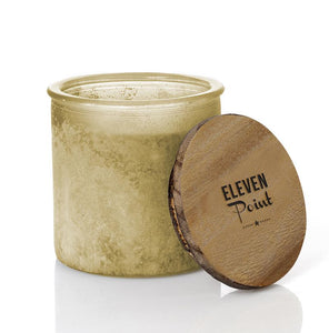 Silver Birch River Rock Candle in Olive