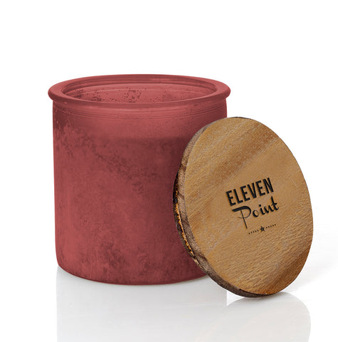 Arrow River Rock Candle in Red