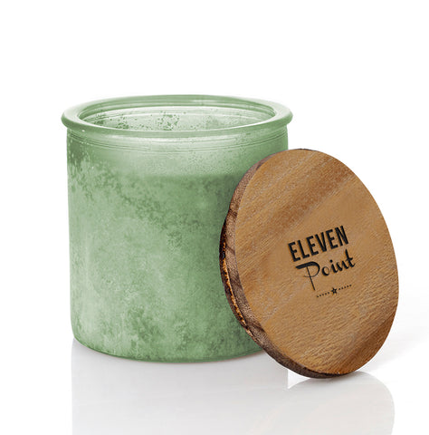 Almond Bark River Rock Candle in Sage