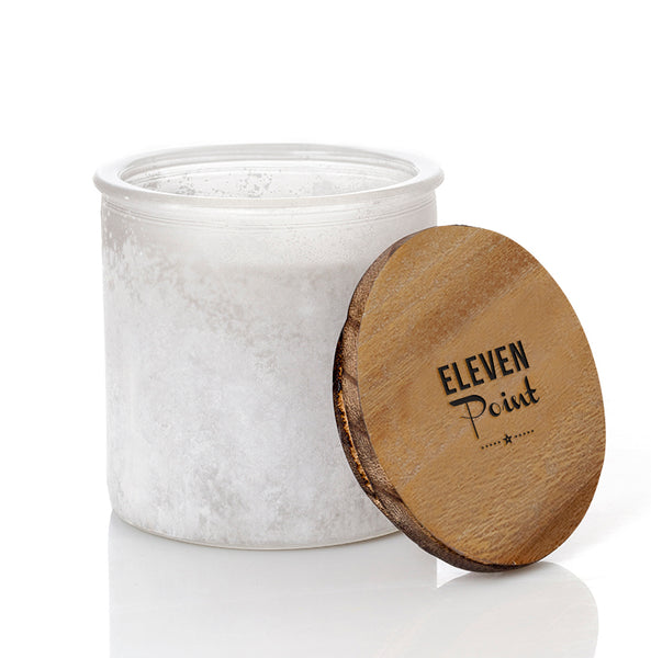 Tree Farm River Rock Candle in Soft White