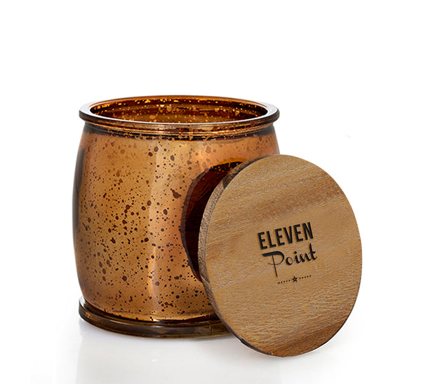 Cotton Creek Mercury Barrel Candle in Bronze