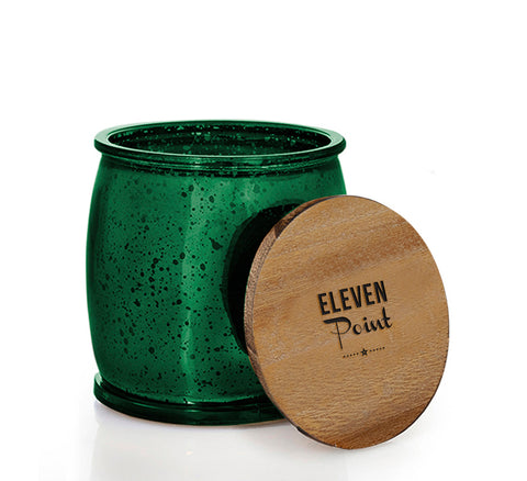 The Mercury Barrel Candle in Green
