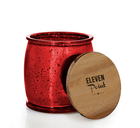 The Mercury Barrel Candle in Red