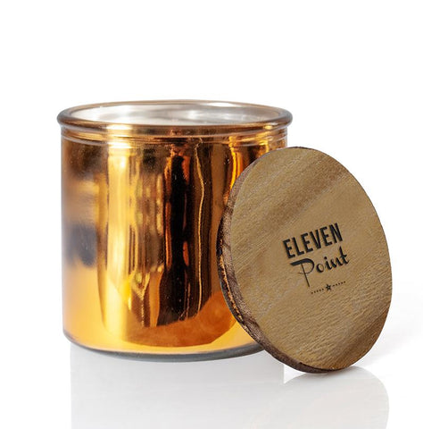 Tree Farm Rock Star Candle in Gold