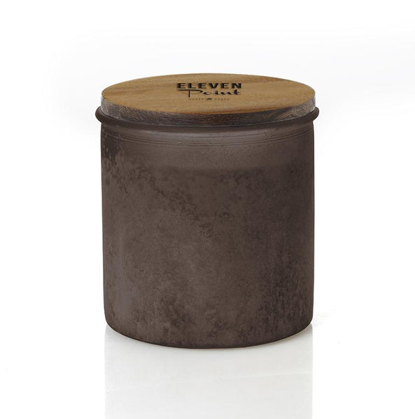 Holiday Drama River Rock Candle in Amber