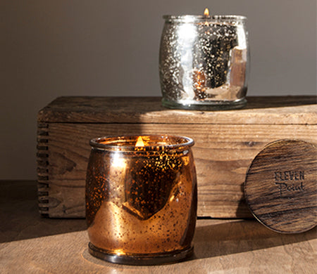 Holiday No. 11 Mercury Barrel Candle in Silver