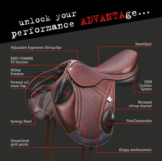 Bates Advanta Eventing Saddle