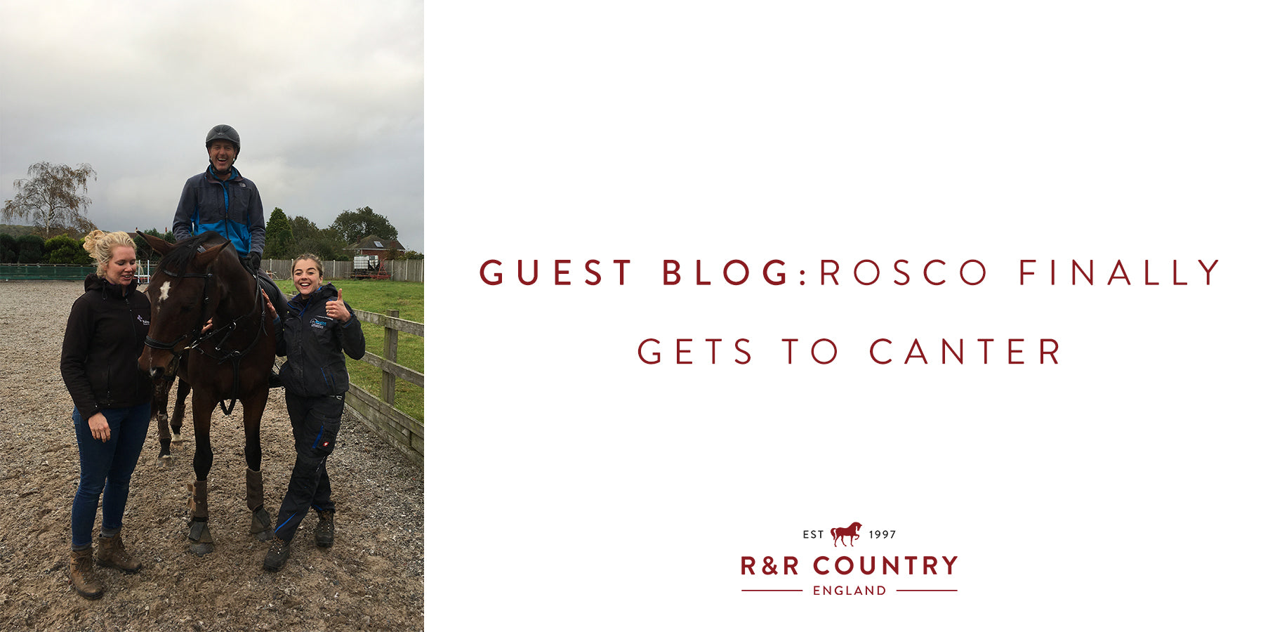 Rosco Gets To Canter