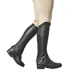 Dublin Stretch Fit Half Chaps With Patent Piping