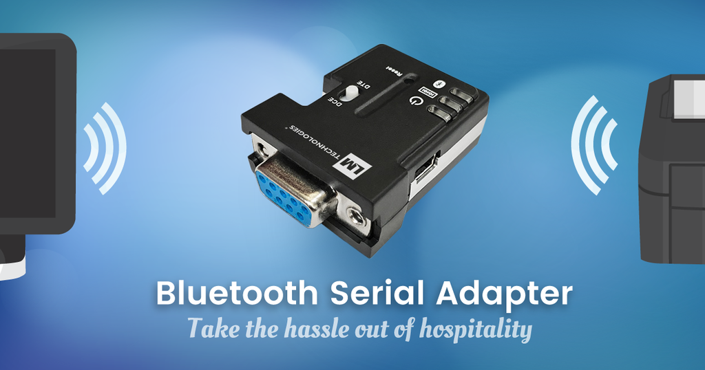 Take the hassle out of hospitality with the LM048 Bluetooth Serial Adapter