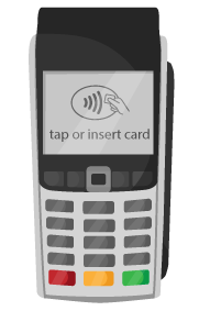 Wireless chip and pin card terminal