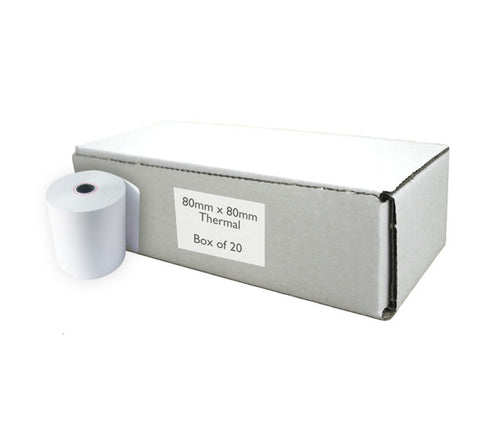 "3"" Thermal till rolls 80x80mm (Box of 20)"