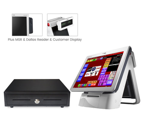 "*WEB ONLY DEAL* Posbank Imprex 15"" complete EPOS system (with customer display)"