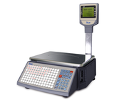 LS2S barcode label printing scales (+ dual square pole display)