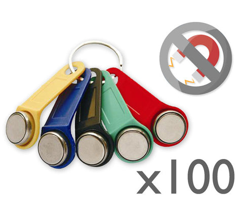 100x Non-magnetic Dallas key fob (iButton)