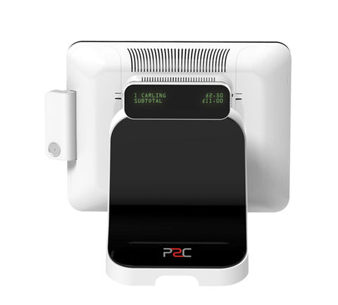 P2C integrated customer display panel (20x2 characters)