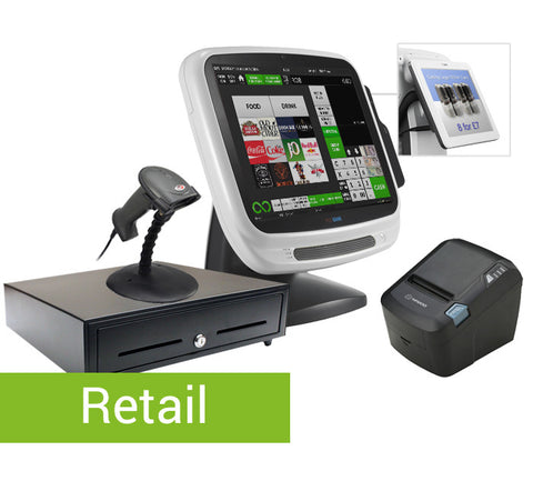 "Complete Premium EPOS System (inc. 12.1"" customer screen + barcode scanner)"