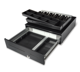 SK-428 Large dimension, heavy-duty sliding Cash Drawer (5 note / 8 coin) 428 x 460 x 120mm