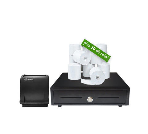 EPOS Starter Kit USB Thermal Printer, Cash Drawer & Till Rolls
