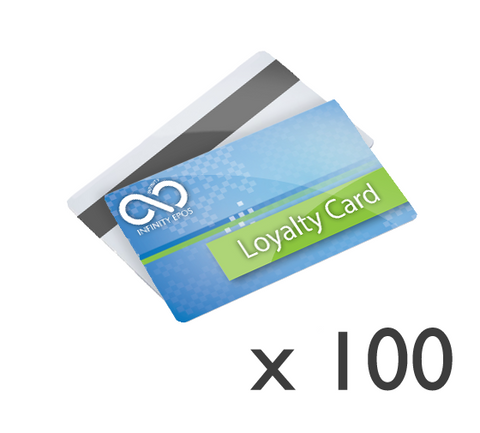 100x Full colour printed and encoded customer loyalty cards (HICO)