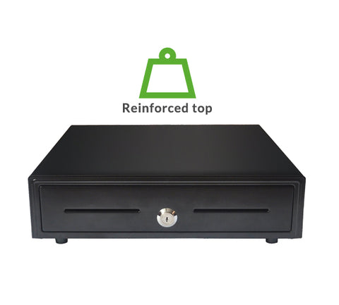 Grade A refurbished VK-410+ Reinforced steel cash drawer (4 note / 8 coin) 410 x 420 x 100mm