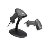 XL-626 rugged laser handheld barcode scanner (with stand) - USB or Serial RS232