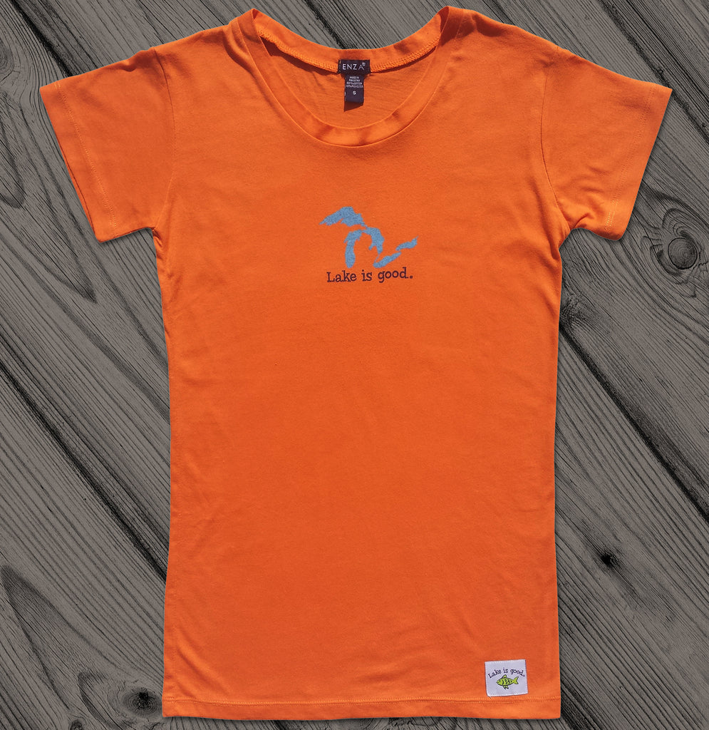 Lake is Good Orange with Great Lakes - Women's Short Sleeve
