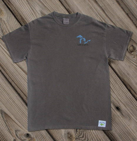 Lake is Good Brown with Great Lakes - Men's Short Sleeve