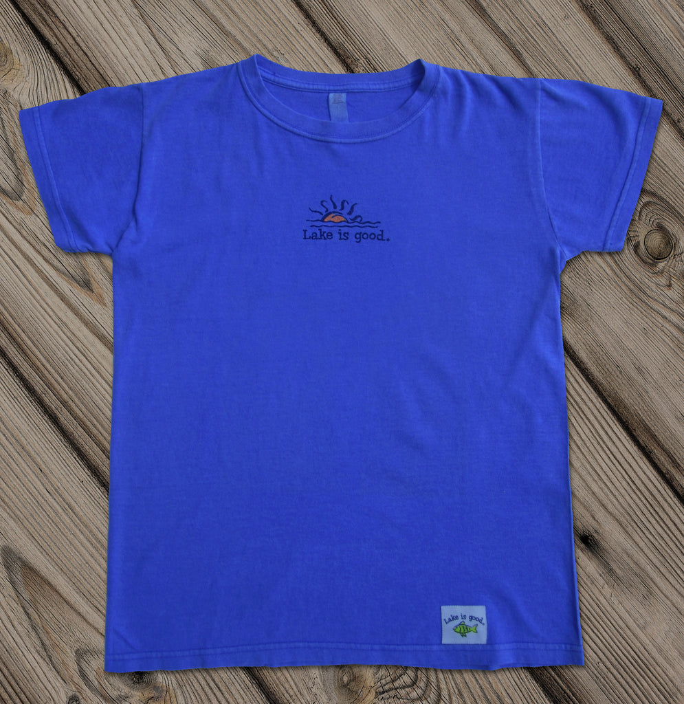 Lake is Good Soft Periwinkle with Sunburst - Women's Short Sleeve