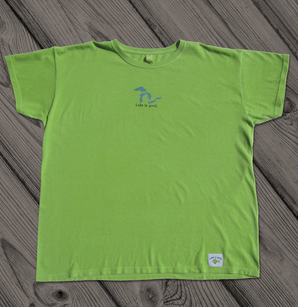 Lake is Good Lime Green with Great Lakes - Women's Short Sleeve