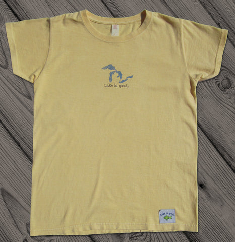 Lake is Good Yellow with Great Lakes - Women's Short Sleeve