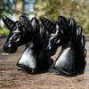 black obsidian crystal unicorn