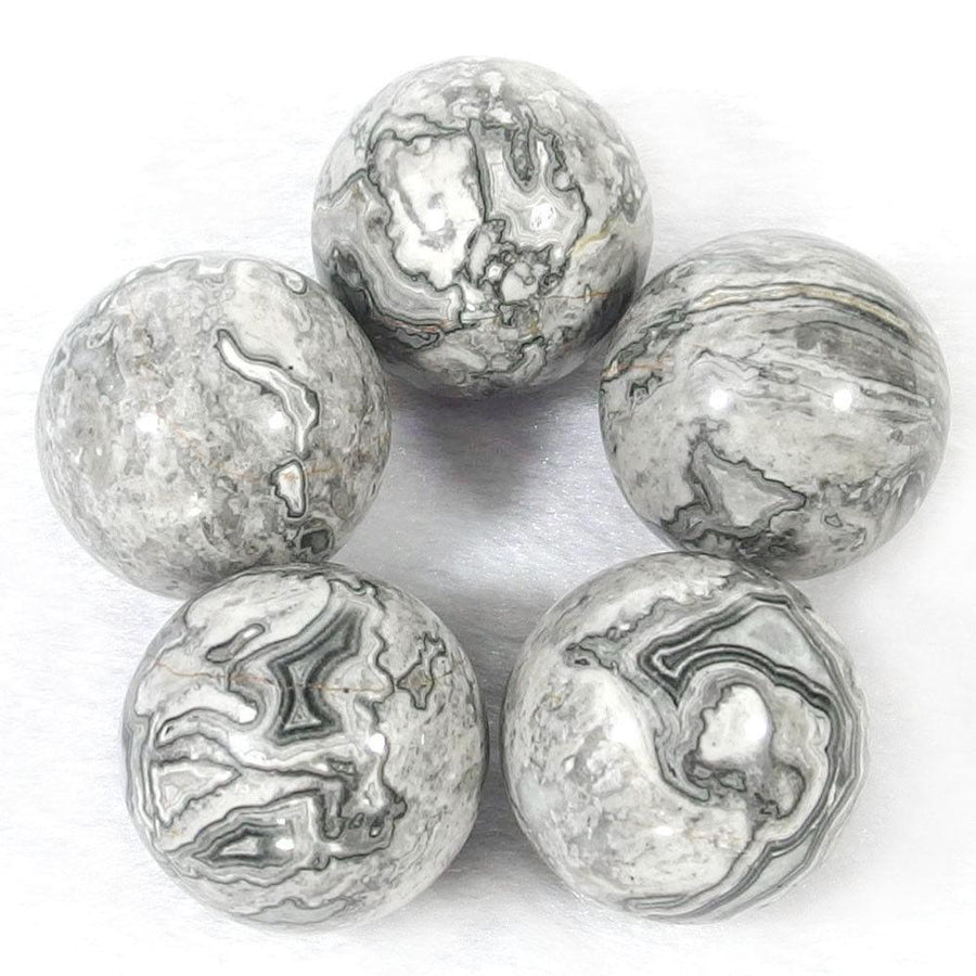 Crystal Ball - Grey Jasper Crystal Ball