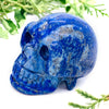 "Lapis Lazuli Healing Crystal Skull | 1.5"" Natural Hand-Carved Stone Skull For Reiki, Meditation, & Chakra Energy"