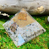 Moonstone Orgone Pyramid | Crystals for Transformation Feminine Energy