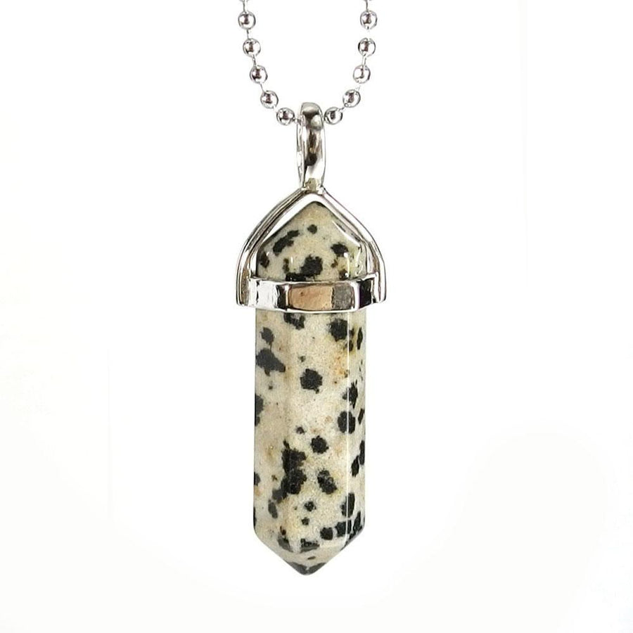 Pendant Necklaces - Dalmatian Jasper Gemstone Pendant Necklace